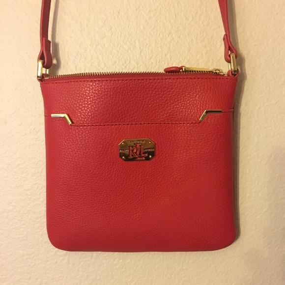d6cd3c51a9 Lauren Ralph Lauren Handbags - Lauren Ralph Lauren Red Crossbody Bag